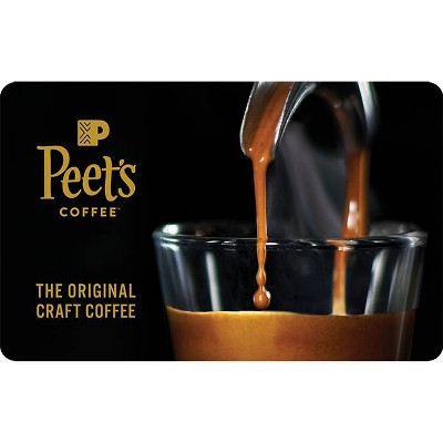 Peet's Coffee $25 Gift Card (Email Delivery)