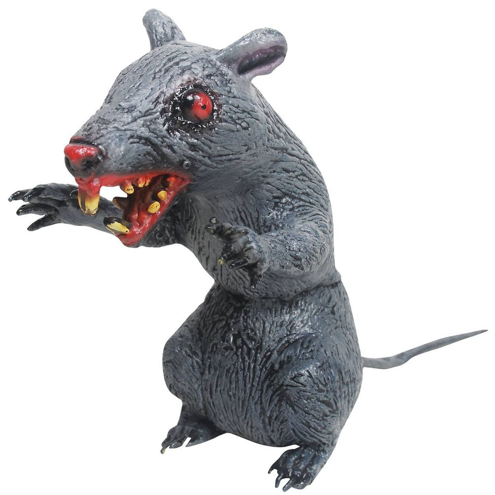 "Image of ""10 """"Halloween Latex Sitting Evil Rat"""