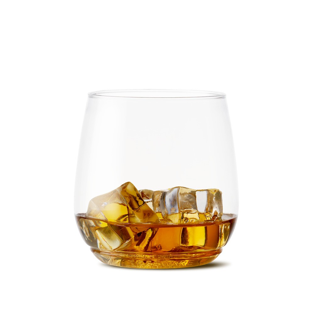 12oz Tumbler Junior Cocktail And Whiskey Plastic Glass Set of 12 - Tossware, Clear