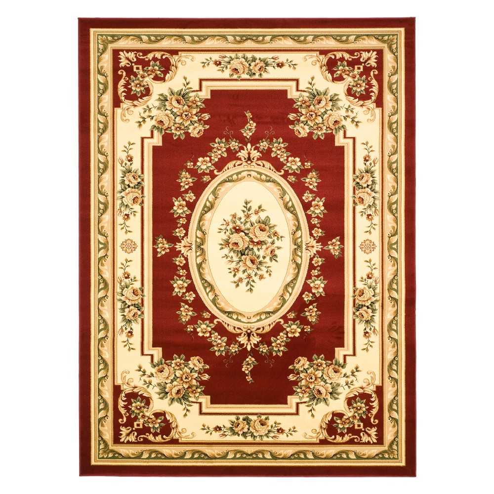 33X53 Medallion Loomed Accent Rug Red/Ivory - Safavieh Coupons