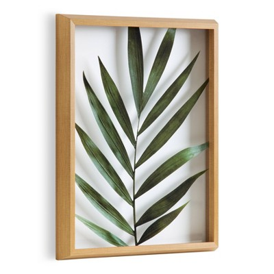 """16"""" x 20"""" Blake Botanical 5F Framed Printed Glass by Amy Peterson Natural - Kate and Laurel"""