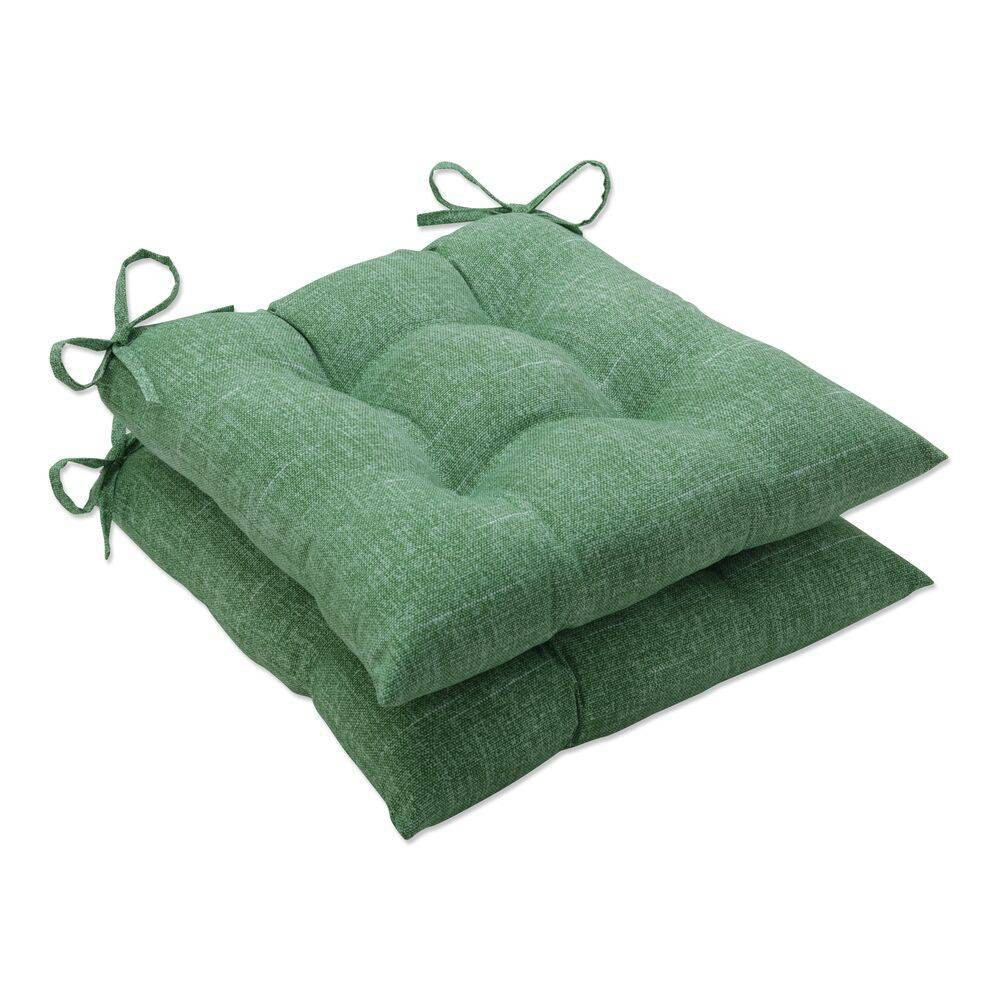 2pk Outdoor Indoor Wrought Iron Seat Cushion Set Tory Palm Green Pillow Perfect