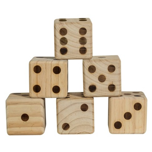 Franklin Sports Giant Wooden Dice - image 1 of 4