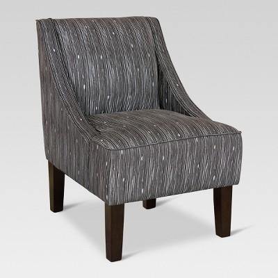 Superieur Hudson Swoop Arm Chair Shibori Stripe Ink   Threshold™ : Target