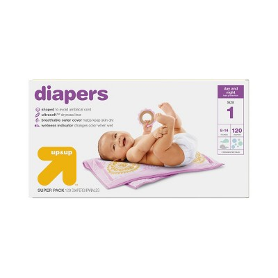 Diapers Super Pack Size 1 120 ct - Up&Up™