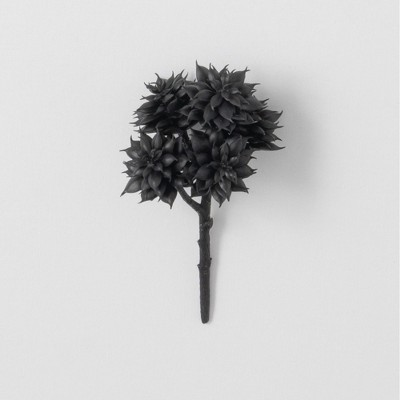 """Sullivans Artificial Succulent Pick 8""""H Black"""