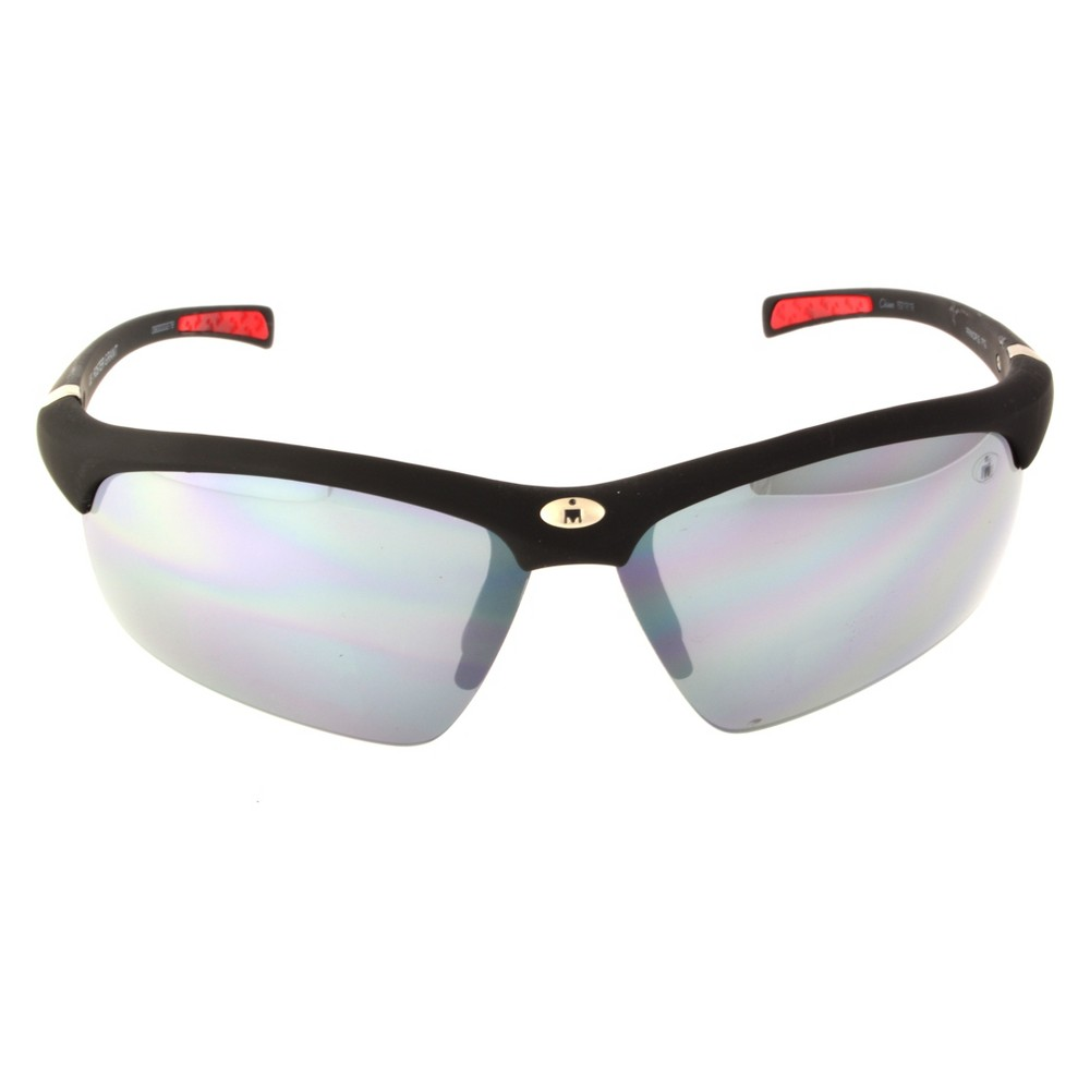 Image of Men's Ironman Impact Resistant Semi-Rimless Wrap Sunglasses - Black, Size: Small
