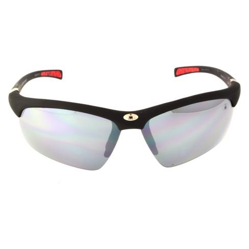 8701fdd301 Men s Ironman Impact Resistant Semi-Rimless Wrap Sunglasses - Black   Target