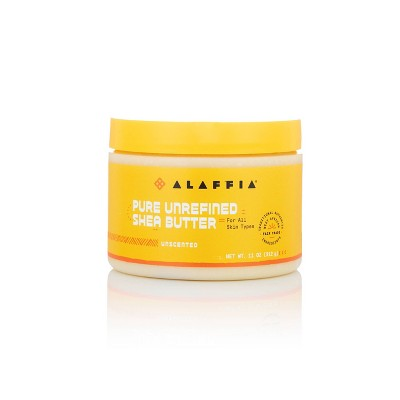 Alaffia Pure Unrefined Shea Butter - Unscented - 11oz