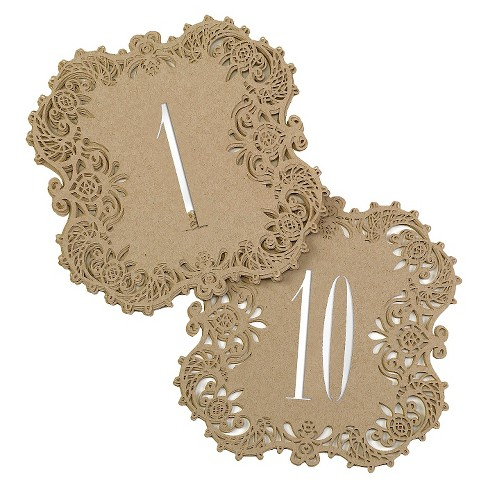 Laser Cut Table Number Cards - image 1 of 1