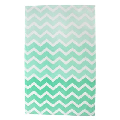 2pk Cotton Chevron Dishtowels Blue - Design Imports