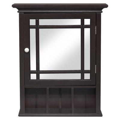 Neal Wall Medicine Cabinet Dark Espresso - Elegant Home Fashions