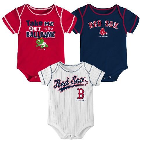 MLB Boston Red Sox Boys' 3pk Bodysuit Set - image 1 of 4