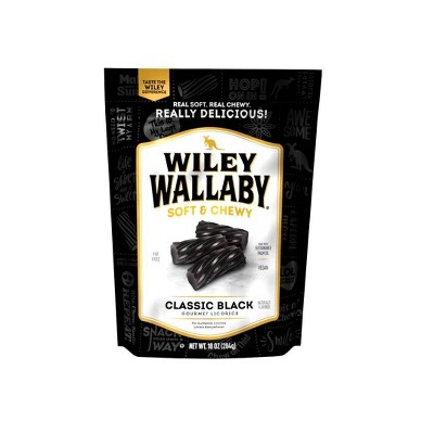Wiley Wallaby Black Liquorice Candy -10oz