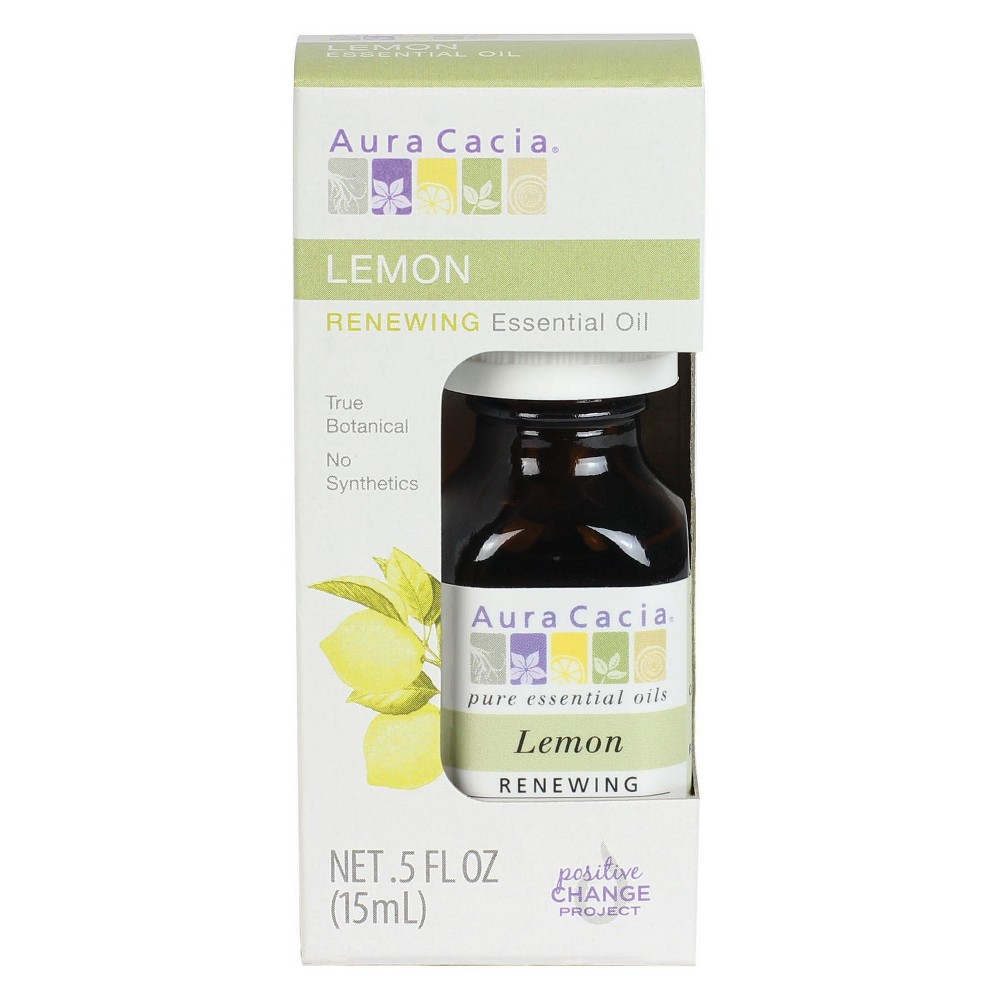 Image of Aura Cacia Lemon Essential Oil Boxed - .5 fl oz