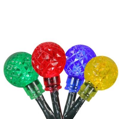 PENN 240ct LED G20 Globe String Lights Multi-Color - 8' Green Wire