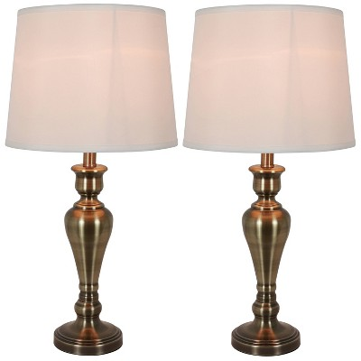Marie Table Lamp Set Brass - Decor Therapy