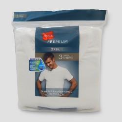 Hanes Premium Men's Big & Tall Crew Undershirt 3pk - White