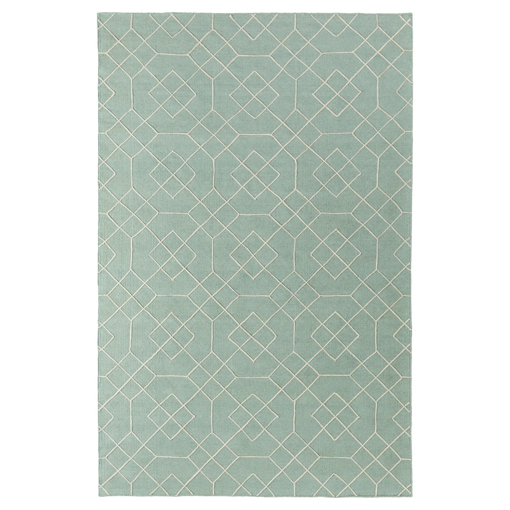 Seafoam Abstract Woven Accent Rug - (3'6