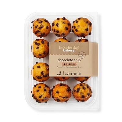 Chocolate Chip Mini Muffins - 11.9oz/12ct - Favorite Day™