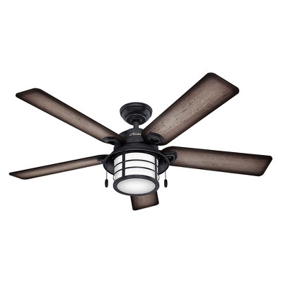 54  Prestige Key Biscayne Weathered Zinc Ceiling Fan with Light - Hunter Fan
