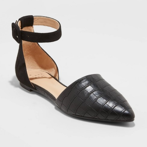 Women's Candace Mary Jane Shoes - A New Day™ Black - image 1 of 3