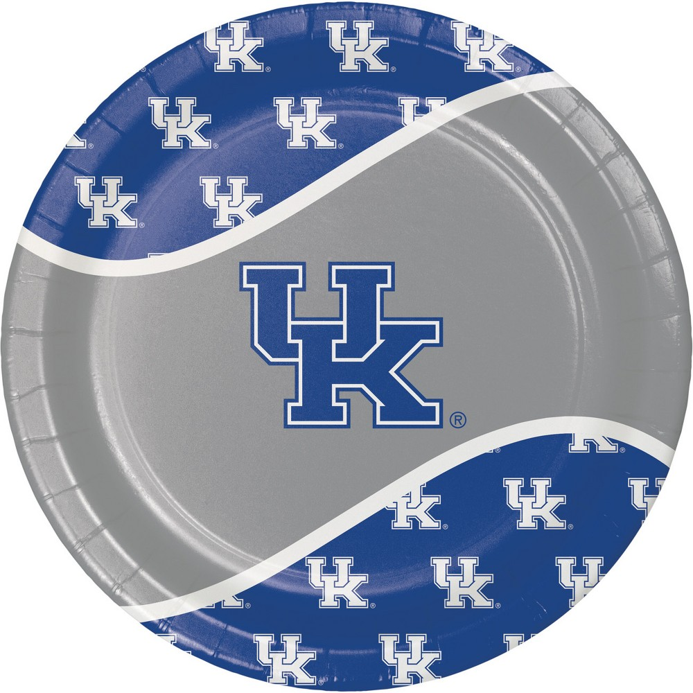 Image of 24ct Kentucky Wildcats Paper Plates Blue