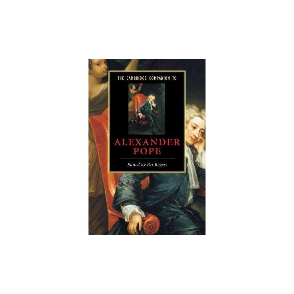 The Cambridge Companion to Alexander Pope ( Cambridge Companions to Literature) (Paperback)