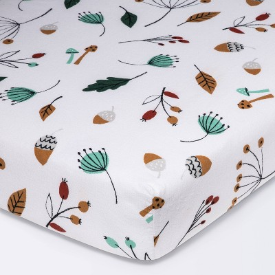 Flannel Fitted Crib Sheet Foilage - Cloud Island™