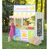 HearthSong Pretend Lemonade Stand Screen Printed Cotton Canvas Play Space with Menu, Apron, and OPEN sign - image 2 of 4