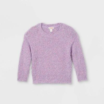 Toddler Girls' Textured Pullover Sweater - Cat & Jack™ Violet