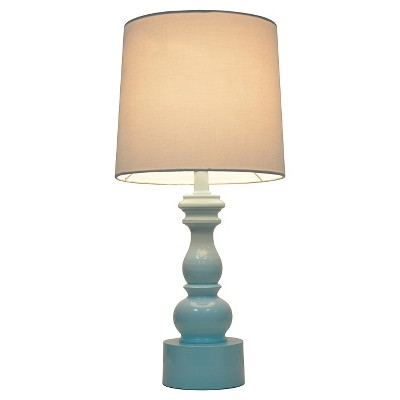 Turned Table Lamp with Touch On/Off Aqua - Pillowfort™