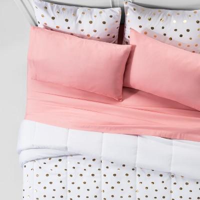 Gold Foil Printed Comforter Set (Queen)7pc - Room Essentials™