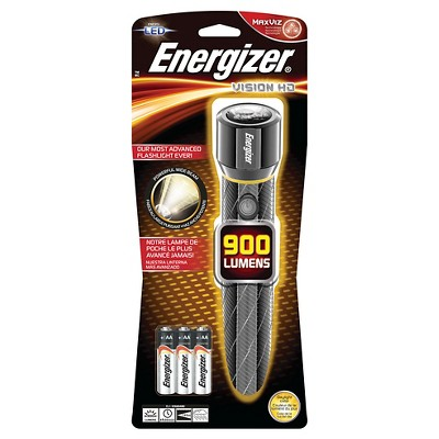 Energizer Vision HD 6AA Performance Metal LED Light Flashlight