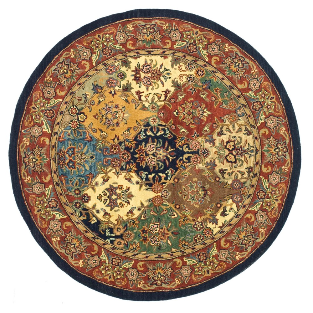Floral Tufted Round Area Rug 8' - Safavieh, Multi/Red