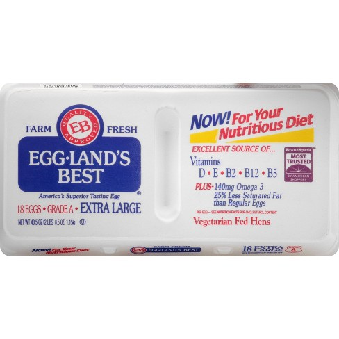 Eggland's Best Grade A Extra Large Eggs - 18ct - image 1 of 4