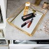 Large Geometric Mirrored Vanity Tray Gold - Home Details - image 4 of 4