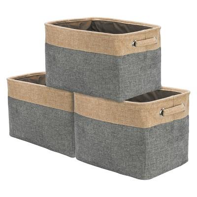 3pk Sorbus Twill Storage Basket