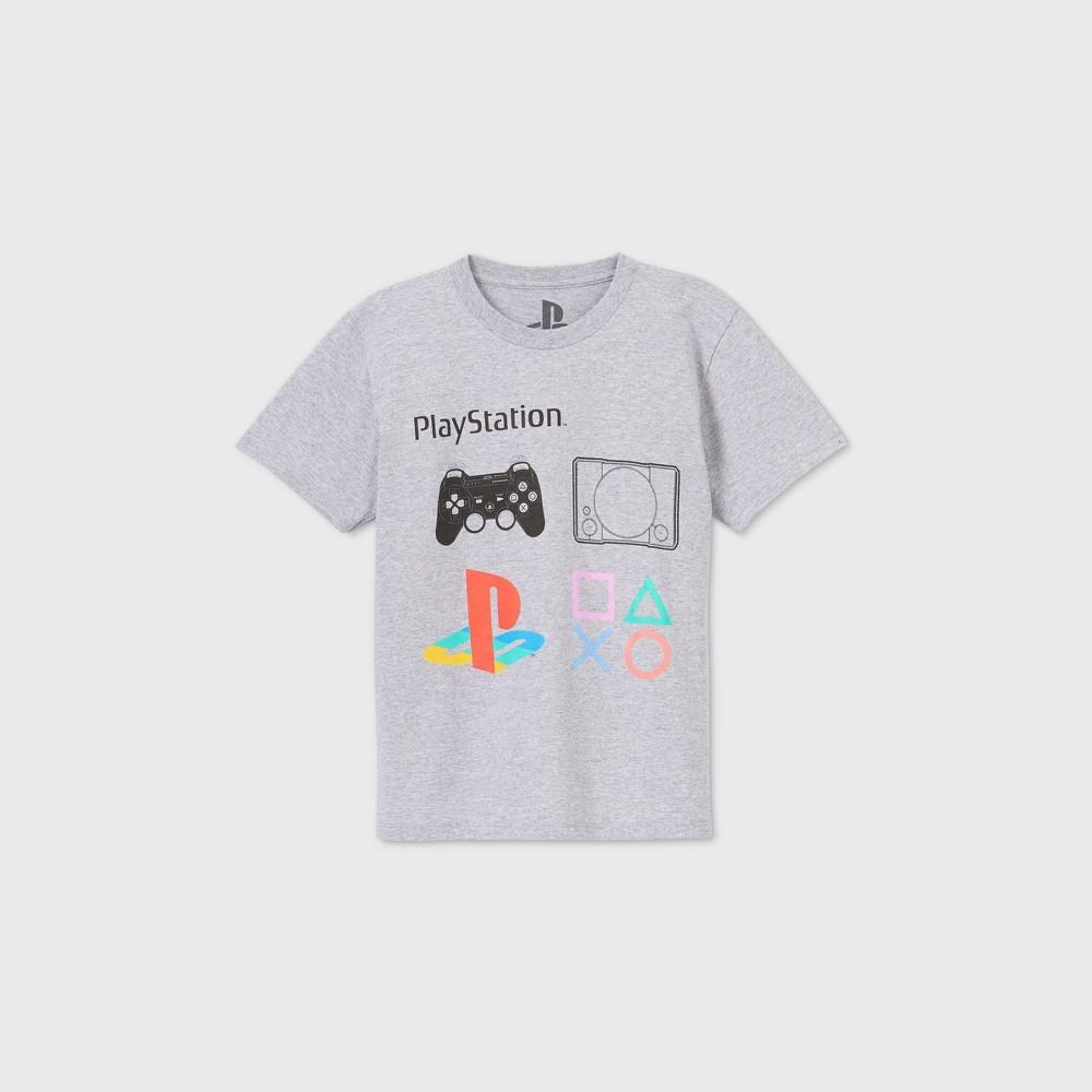 Boys 39 Short Sleeve Playstation Graphic T Shirt Gray Xs