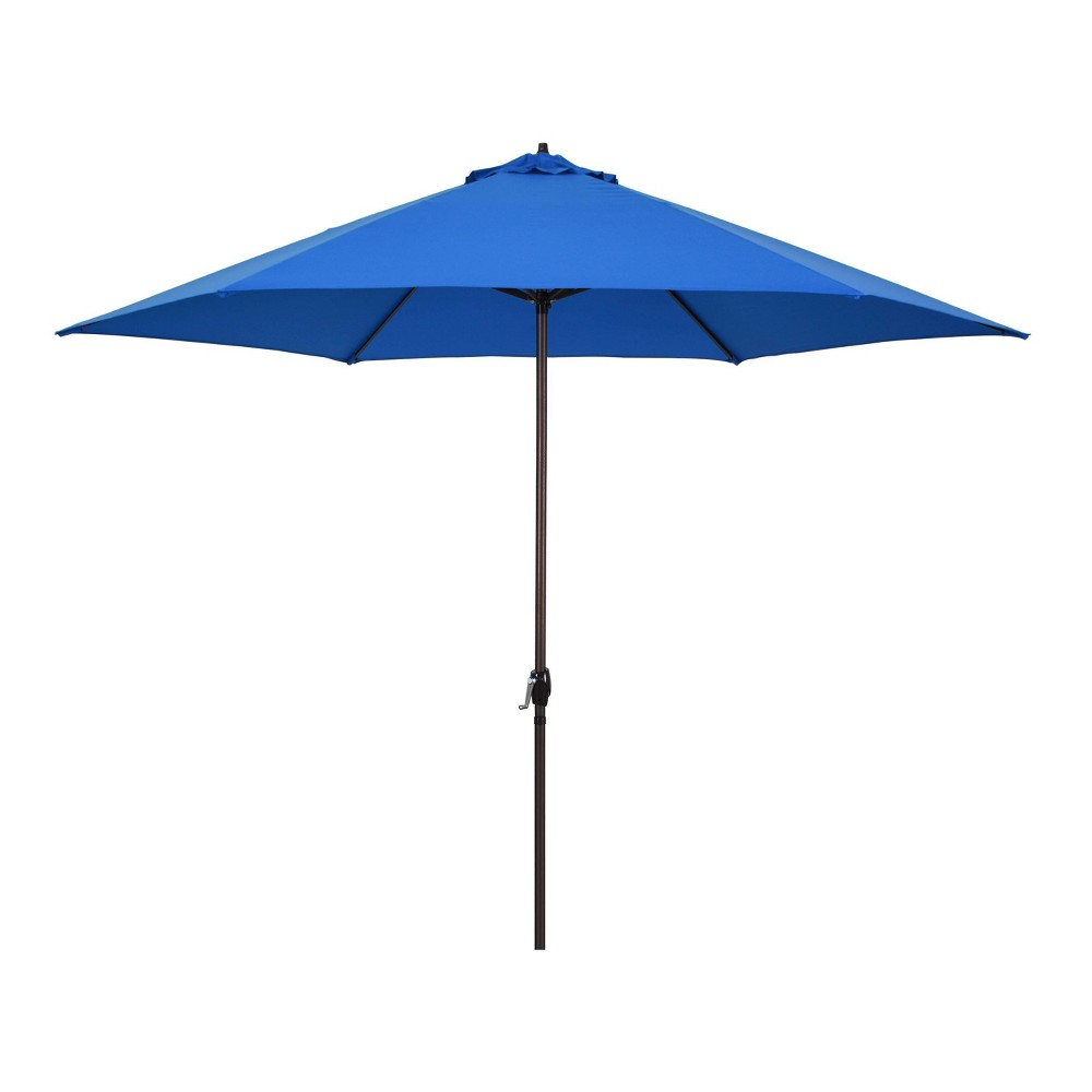 Image of 11' Patio Umbrella - Aluminum Pole with Crank Lift Pacific Blue - Astella