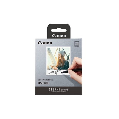 "Canon Glossy Photo 2.7"" x 2.7"" Paper for QX10 Selphy Square Portable Photo Printer - 20 ct"