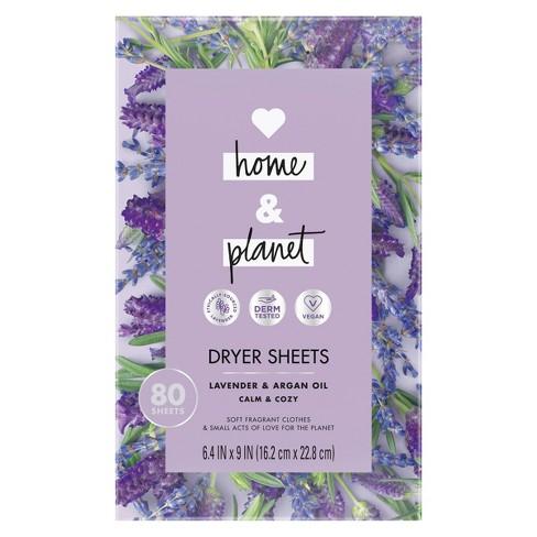 Love Home & Planet Lavender & Argan Oil Dryer Sheets - 80ct - image 1 of 4
