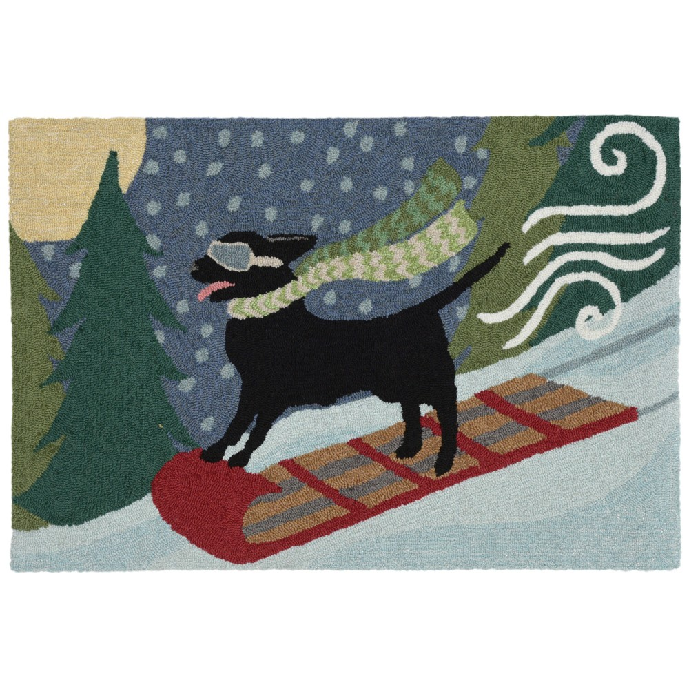 2'X3' Dogs Tufted Accent Rug - Liora Manne, Multicolored
