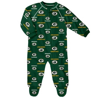 NFL Green Bay Packers Baby Boys' Blanket Zip-Up Sleeper - 12M
