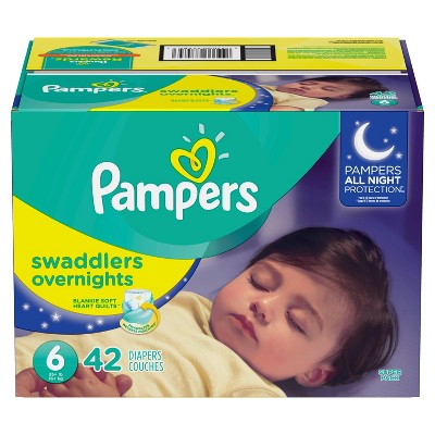 Diapers: Pampers Swaddlers Overnights