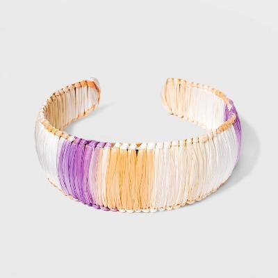 Raffia Wrapped Cuff Bracelet - A New Day™