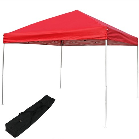 Quick-Up 12' X 12' Red Canopy with Carrying Bag - Sunnydaze Decor - image 1 of 4