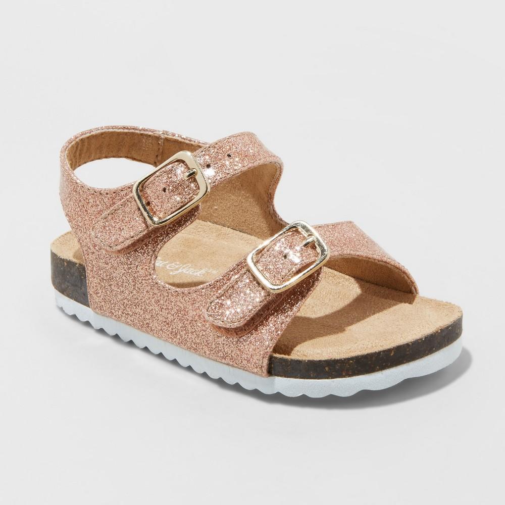 Toddler Girls' Tisha Comfort Footbed Sandals - Cat & Jack Rose Gold 10