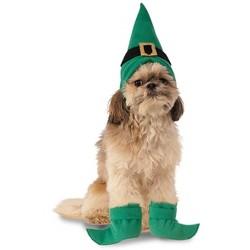 Rubie's Elf Hat w/ Boot Cuffs Dog Costume