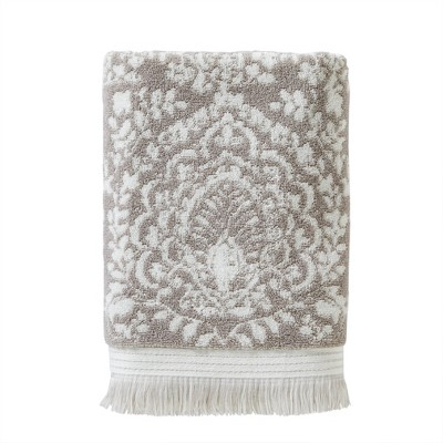 Carrick Medallion Bath Towel Taupe - SKL Home